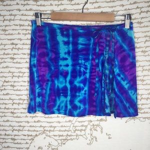 Vintage Catalina M Blue Tie Dye Sarong A8-5